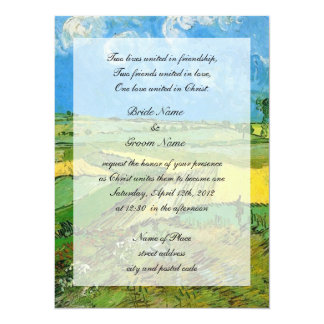 Religions wedding. Wheat Fields at Auvers Personalized Invite