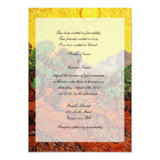 religions weddings,Vincent van Gogh Olive Trees Invites