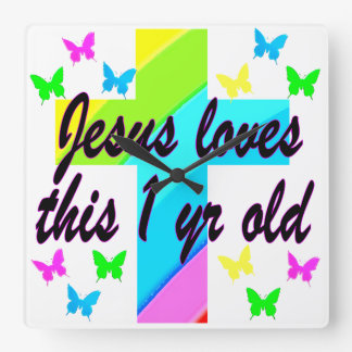 RELIGIOUS 1 YEAR OLD BIRTHDAY DESIGN WALL CLOCKS