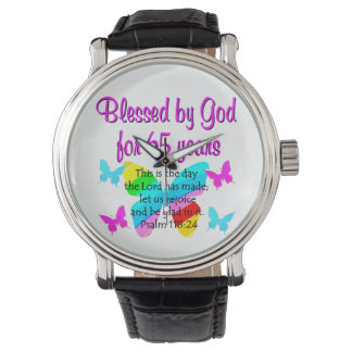RELIGIOUS 65TH BIRTHDAY BUTTERFLY DESIGN WRISTWATCHES