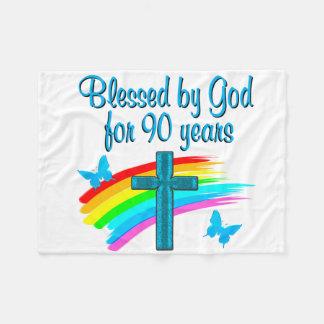 RELIGIOUS 90 YR OLD FLEECE BLANKET