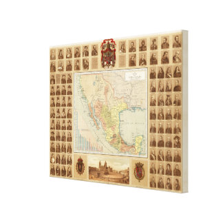 Religious and Secular Figures of Mexico Stretched Canvas Prints