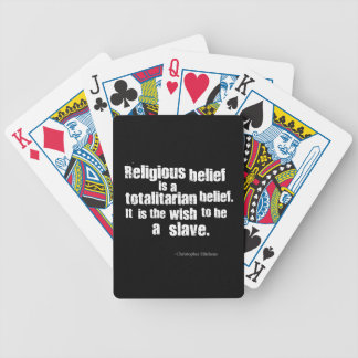 Religious Belief is a Totalitarian Belief. Poker Cards