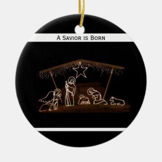 Religious Christian Christmas Ornament - Manger
