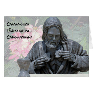 Religious Christmas Card with Christ
