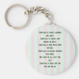 Religious Christmas Meaning Keychain