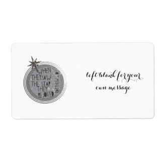 Religious Christmas Scripture Shipping Label