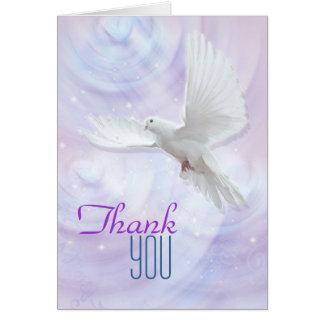 Religious confirmation dove thank you card