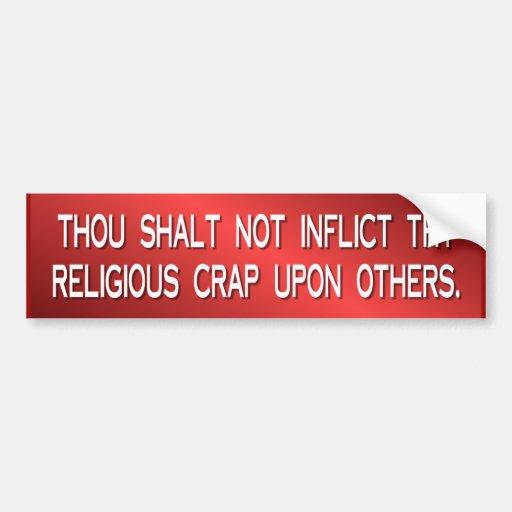 religious crap bumper stickers