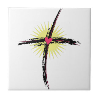 Religious Cross Small Square Tile