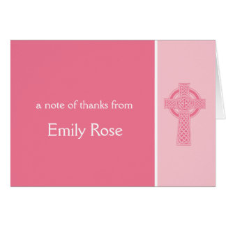 Religious Cross Thank You Note Card