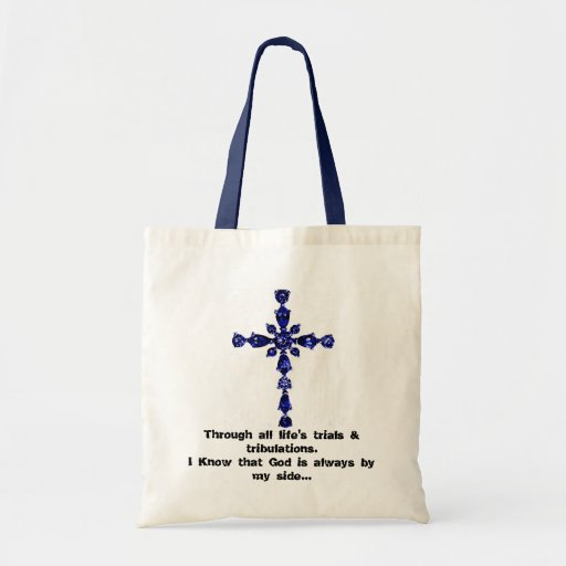 Religious cross tote bag