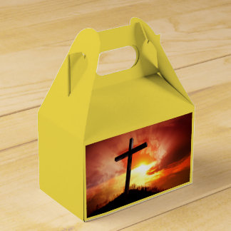 Religious Easter Cross at Sunset Party Favour Boxes