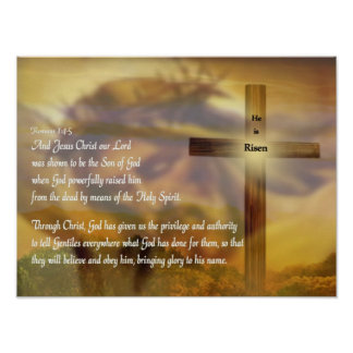 Religious Easter Poster - Jesus - He is Risen