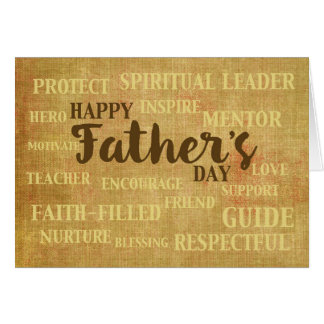 Religious Father's Day, Qualities of Father Card