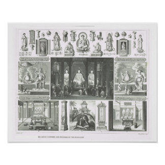 Religious figures and scenes of the Far East Print