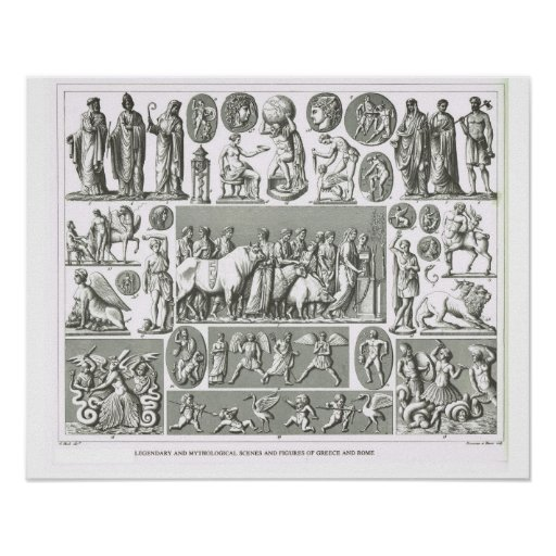 Religious  figures of Greece and Rome Print