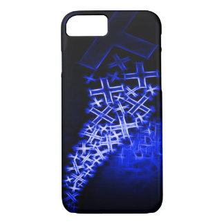 Religious Fractal Blue iPhone 7 Case