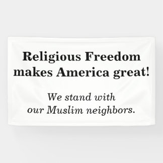 Religious freedom... banner