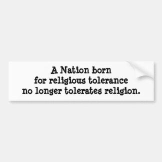 Religious Freedon Bumper Sticker