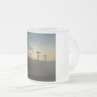Religious Frost Glass Cup