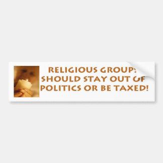 Religious Groups Bumper Sticker
