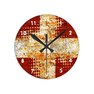 Religious halftone cross clocks
