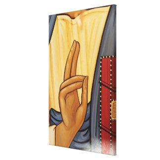 Religious Hand Signal Art Canvas Print