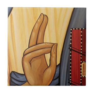 Religious Hand Signal Art Ceramic Tile