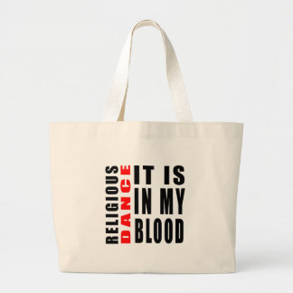 Religious It Is In My Blood Canvas Bags