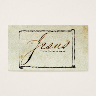 Religious Jesus Church Stained Paper Business Card