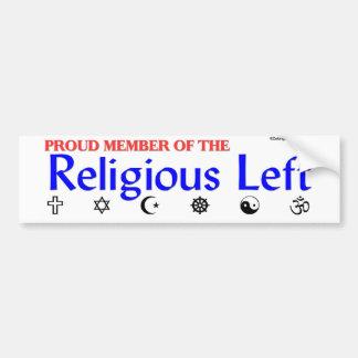 Religious Left Bumper Sticker