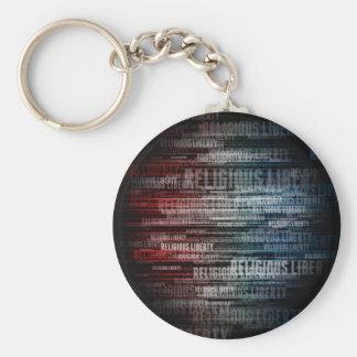 Religious Liberty Basic Round Button Key Ring