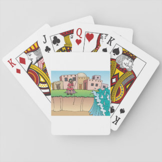 Religious Man Fishing Playing Cards