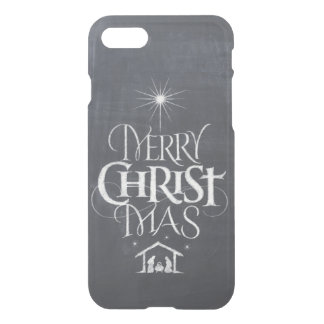 Religious Merry Christmas Christ Chalk Chalkboard iPhone 8/7 Case