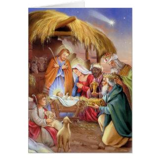 Religious nativity x-mas card