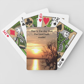 Religious playing cards with scripture