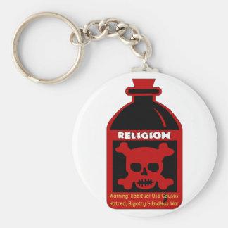 Religious Poison Basic Round Button Key Ring