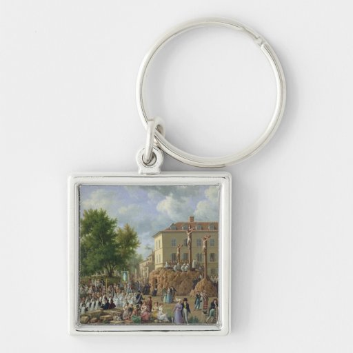 Religious Procession to Mont Valerien, 1819 Keychain