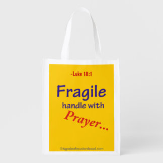 Religious Quotes Grocery Bag