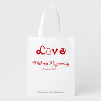 Religious Quotes Reusable Grocery Bag