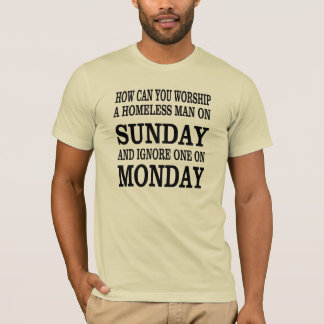 Religious shirt with a good question.