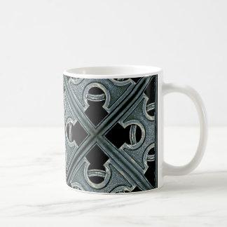 Religious Stone Cross Pattern Basic White Mug