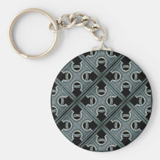 Religious Stone Cross Pattern Key Chain