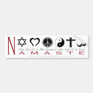 Religious Symbol Namaste Bumper Sticker