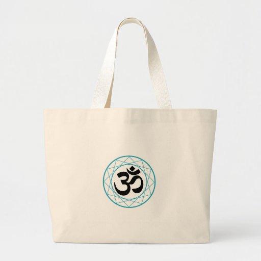 Religious Symbol of Hinduism- Pranava Canvas Bags