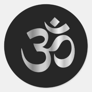 Religious Symbol of Hinduism- Pranava Round Sticker