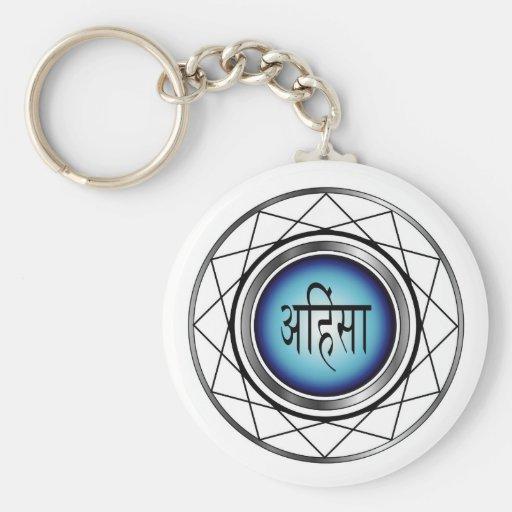 Religious Symbol of Jainism-Ahimsa Key Chains