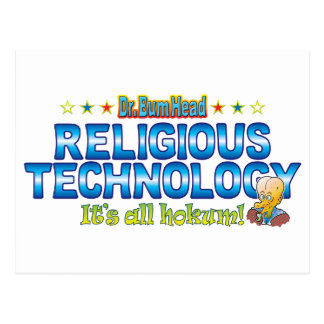 Religious Technology Dr. B Head Postcard