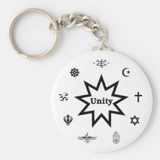 Religious Unity Basic Round Button Key Ring